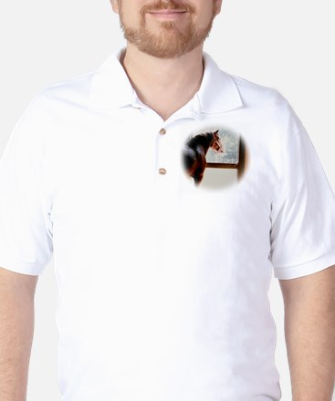 clydesdaleCLOCK.jpg Golf Shirt