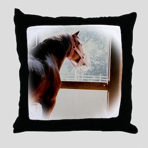 clydesdaleCLOCK Throw Pillow