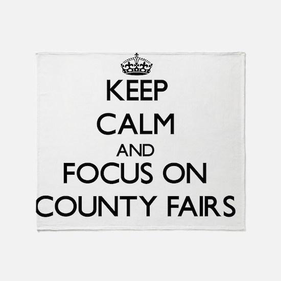 Cute County fair Throw Blanket