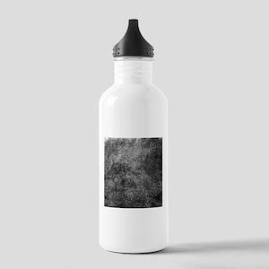 Black White Grunge Texture Water Bottle