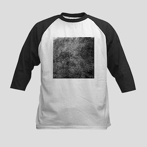 Black White Grunge Texture Baseball Jersey