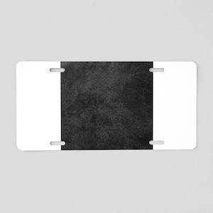 Black Gray Grunge Texture Aluminum License Plate