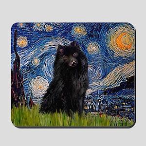 Starry Night Schipperke Mousepad