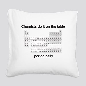 Chemists do it on the table Square Canvas Pillow