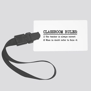 Classroom rules Luggage Tag