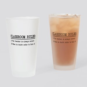 Classroom rules Drinking Glass