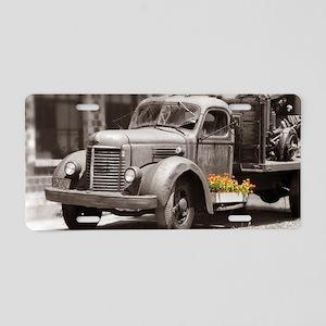 Vintage Old Truck Color Spl Aluminum License Plate