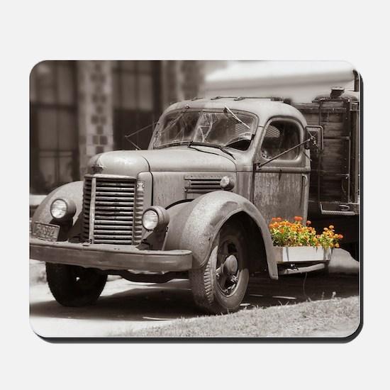 Vintage Old Truck Color Splash Mousepad