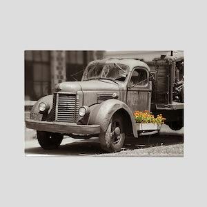Vintage Old Truck Color Splash Rectangle Magnet