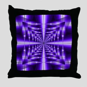 Trippy Purple Plaid Throw Pillow