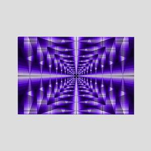Trippy Purple Plaid Magnets