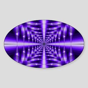 Trippy Purple Plaid Sticker