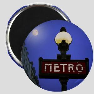 Full Moon Paris Metro Magnet