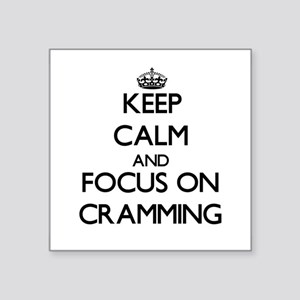 Keep Calm and focus on Cramming Sticker