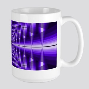 Trippy Purple Plaid Mugs