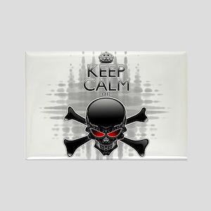 Keep Calm or Die! Black Skull Magnets