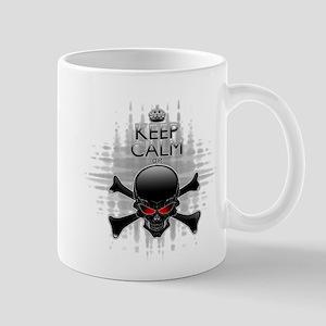 Keep Calm or Die! Black Skull Mugs