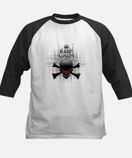 Keep Calm or Die! Black Skull Baseball Jersey