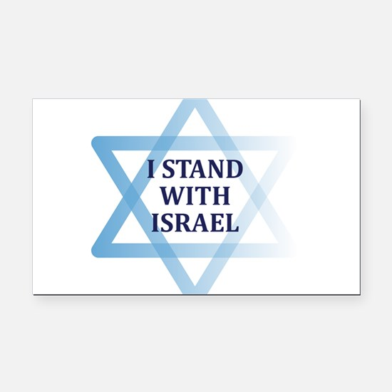 I Stand with Israel Rectangle Car Magnet