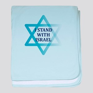 I Stand with Israel baby blanket