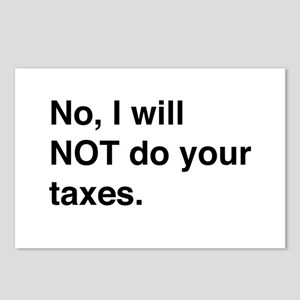Do your own taxes Postcards (Package of 8)