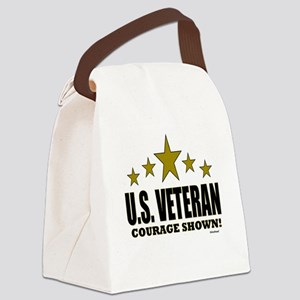 U.S. Veteran Courage Shown Canvas Lunch Bag