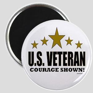 U.S. Veteran Courage Shown Magnet