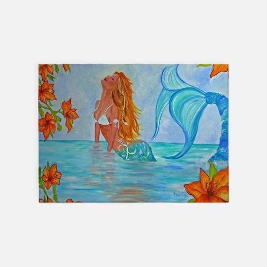 Mermaid 5'x7'area Rug By Alecia
