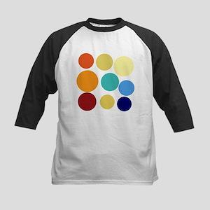 Huge Bright Colored Dots Pattern Baseball Jersey