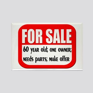 For Sale 60th Birthday Rectangle Magnet