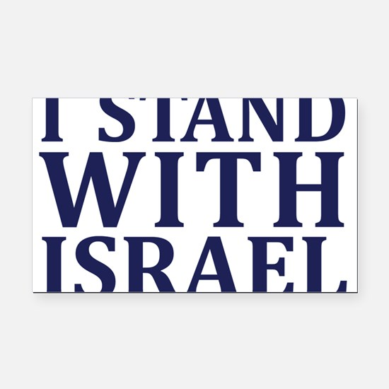 I Stand with Israel - Logo Rectangle Car Magnet