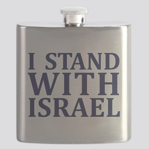 I Stand with Israel - Logo Flask