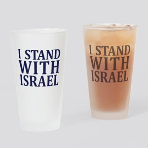 I Stand with Israel - Logo Drinking Glass