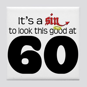 Look Good 60 Birthday Tile Coaster