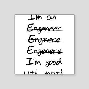 Engineer misspelling Sticker