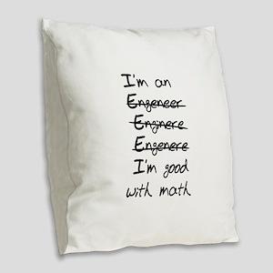 Engineer misspelling Burlap Throw Pillow