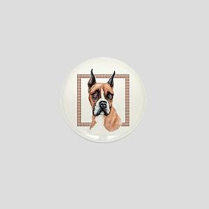 Boxer in Plaid Mini Button