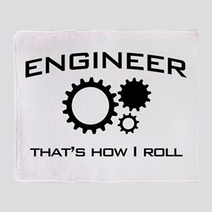 Engineer that's how I roll Throw Blanket