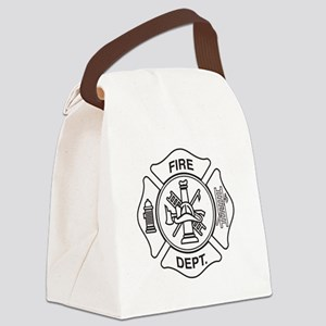 Fire department symbol Canvas Lunch Bag