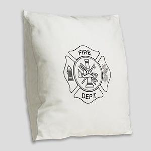 Fire department symbol Burlap Throw Pillow