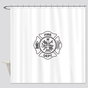 Fire department symbol Shower Curtain