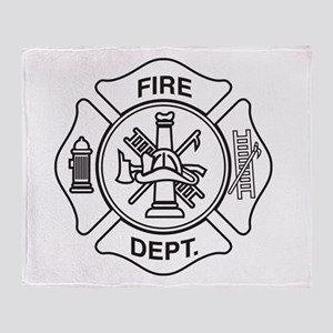 Fire department symbol Throw Blanket