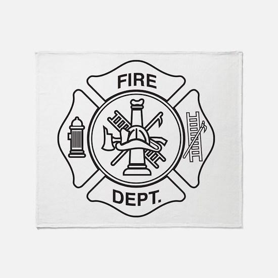 Fire department symbol Throw Blanket