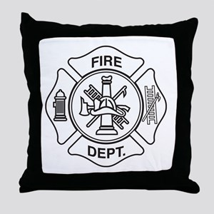 Fire department symbol Throw Pillow