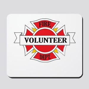 Fire department volunteer Mousepad