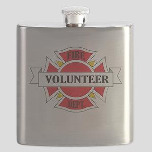 Fire department volunteer Flask