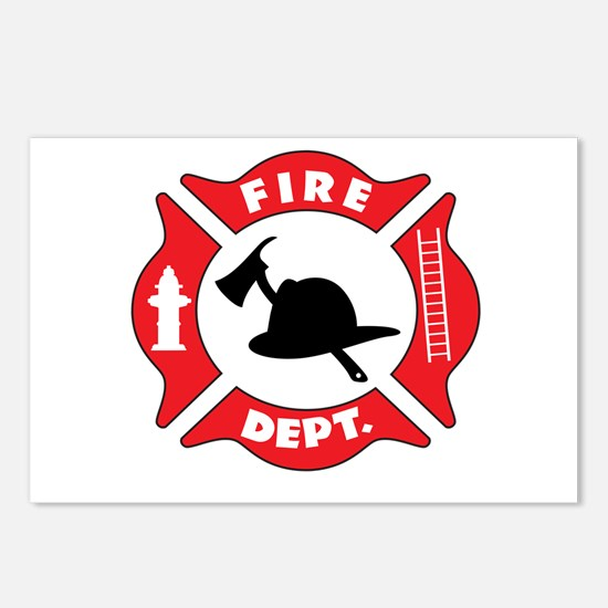 Fire department 2 Postcards (Package of 8)