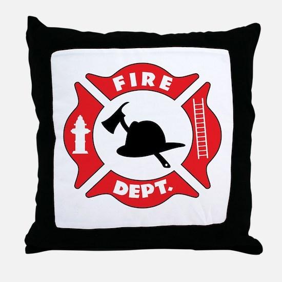 Fire department 2 Throw Pillow
