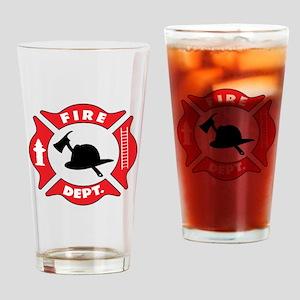 Fire department 2 Drinking Glass