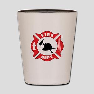 Fire department 2 Shot Glass